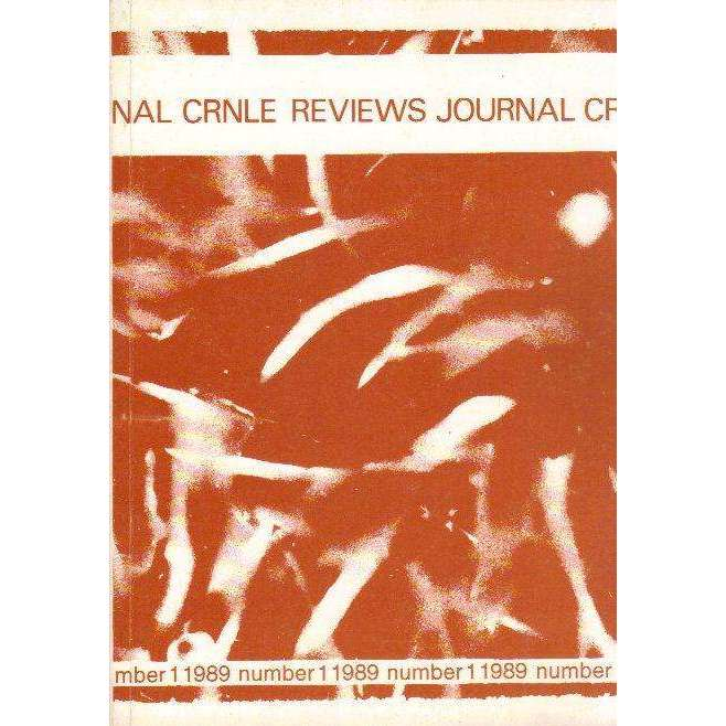 Bookdealers:The CRNLE Reviews Journal (Number 1 1989) | Editor's Haydn Moore Williams, Dr Susan Hosking, Annie Greet