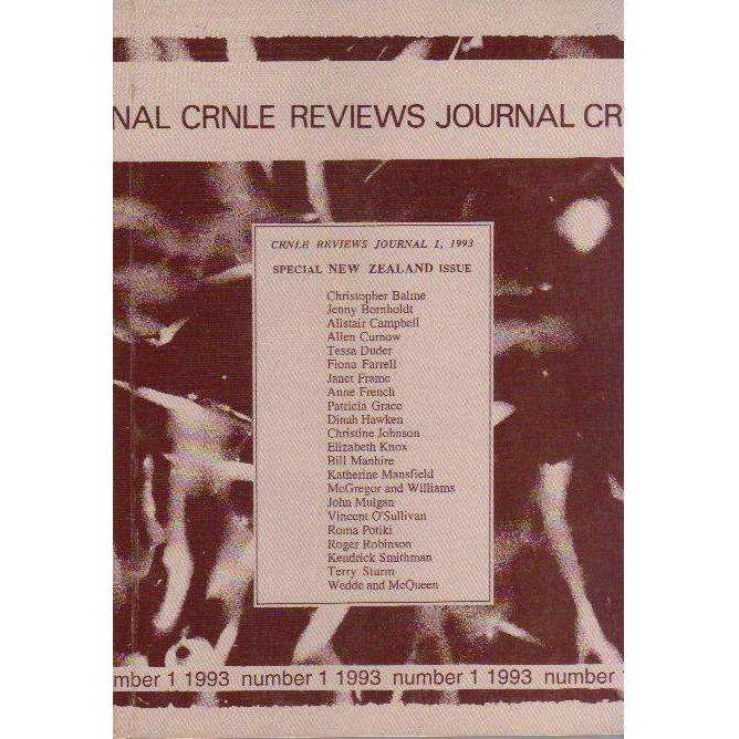 Bookdealers:The CRNLE Reviews Journal (Number 1 1993) | Editor Annie Greet
