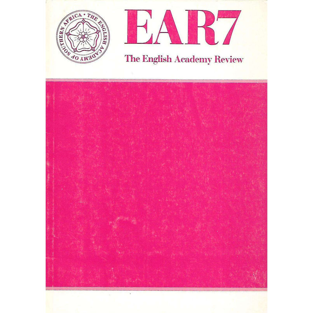 Bookdealers:The English Academy Review (Vol. 7, December 1990)