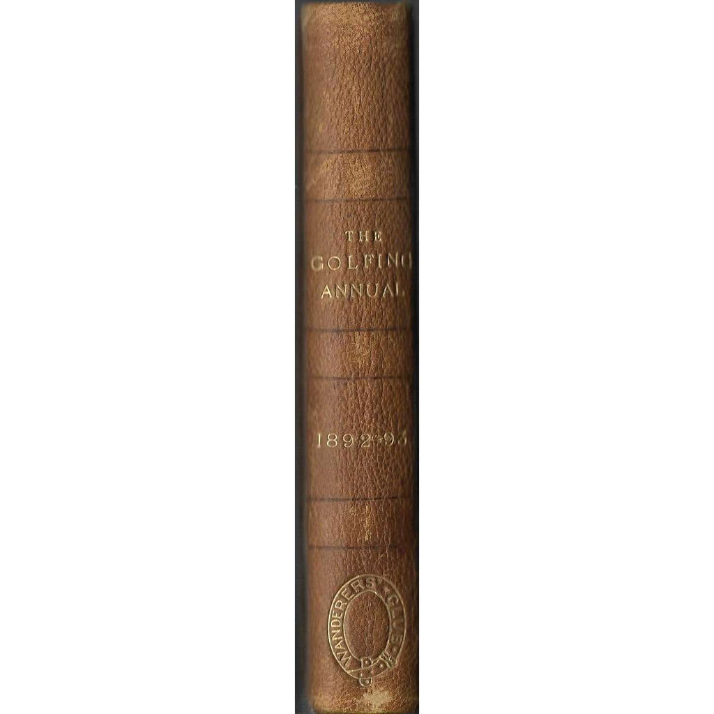 Bookdealers:The Golfing Annual 1892 - 93, (Volume 6) First Edition | Editor: David Scott Duncan