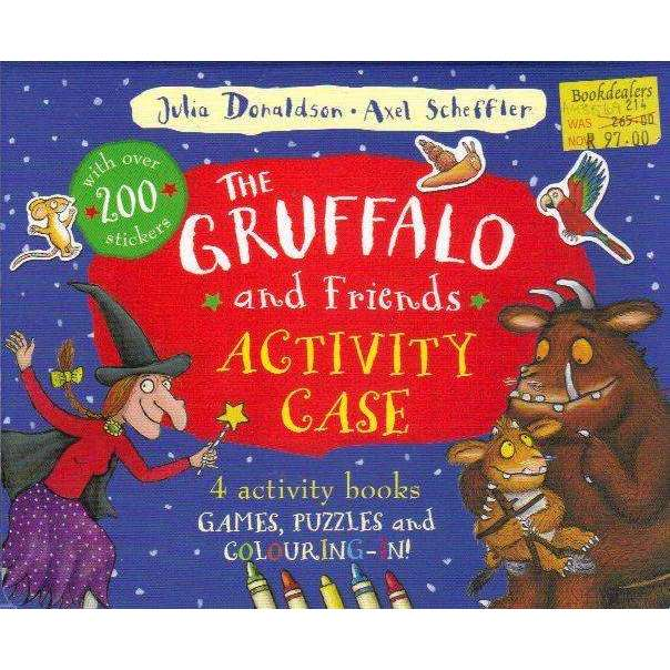 Bookdealers:The Gruffalo and Friends Activity Case: 4 Activity Books Games, Puzzles and Colouring-In! | Julia Donaldson, Axel Scheffler