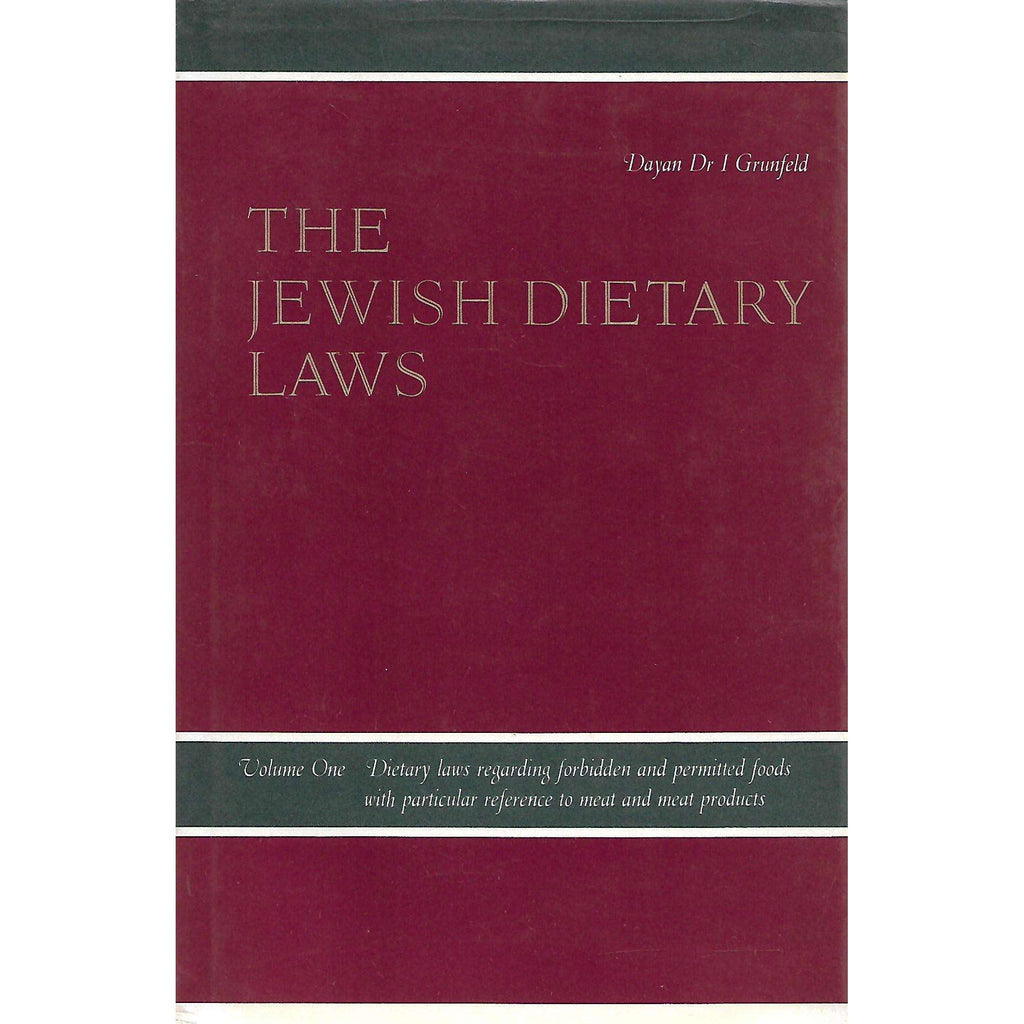 Bookdealers:The Jewish Dietary Laws (In Two Volumes) | Dayan Dr. I. Grunfeld