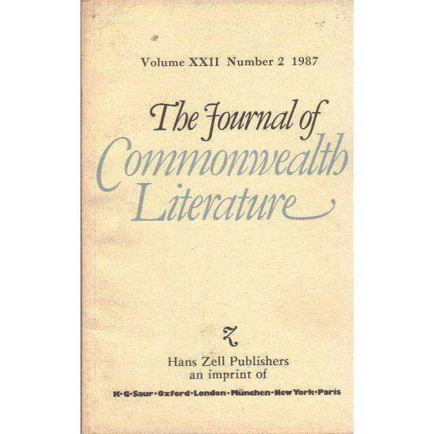 Bookdealers:The Journal of Commonwealth Literature (Volume XXII Number 2 1987) | Caroline Bundy