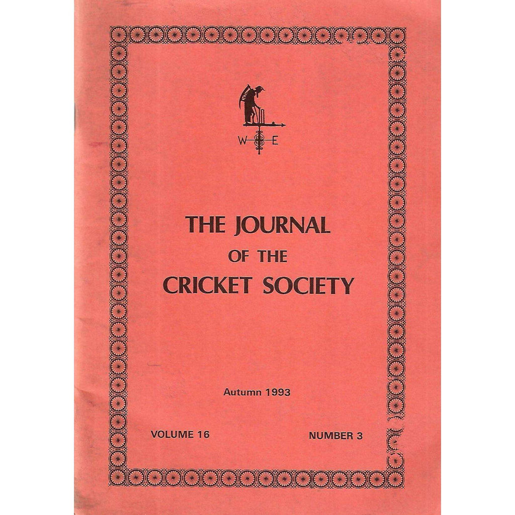 Bookdealers:The Journal of The Cricket Society (Vol. 16, No. 3, Autumn 1993)
