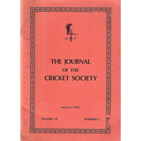 The Journal of The Cricket Society (Vol. 16, No. 3, Autumn 1993)