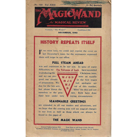 The Magic Wand and Magical Review (December 1940, No. 188 Vol. 29)