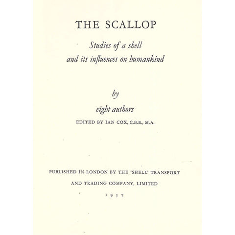 The Scallop: Studies of a Shell and its Influence on Humankind | Ian Cox (Ed.)
