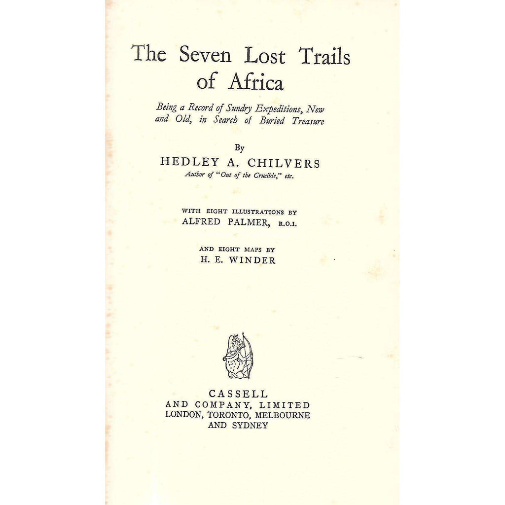 Bookdealers:The Seven Lost Trails of Africa (Signed by Author) | Headley A. Chilvers