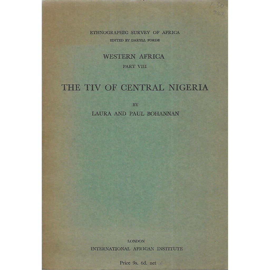 Bookdealers:The Tiv of Central Nigeria | Laura & Paul Bohannan