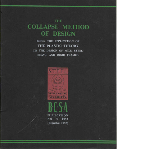 The Collapse Method of Design Issue no. 5 1952 | B.C.S.A.