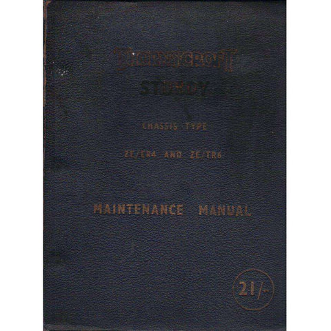 Thornycroft Sturdy Maintenance Manual: Chassis Type ZE\ER4 and ZE\TR6