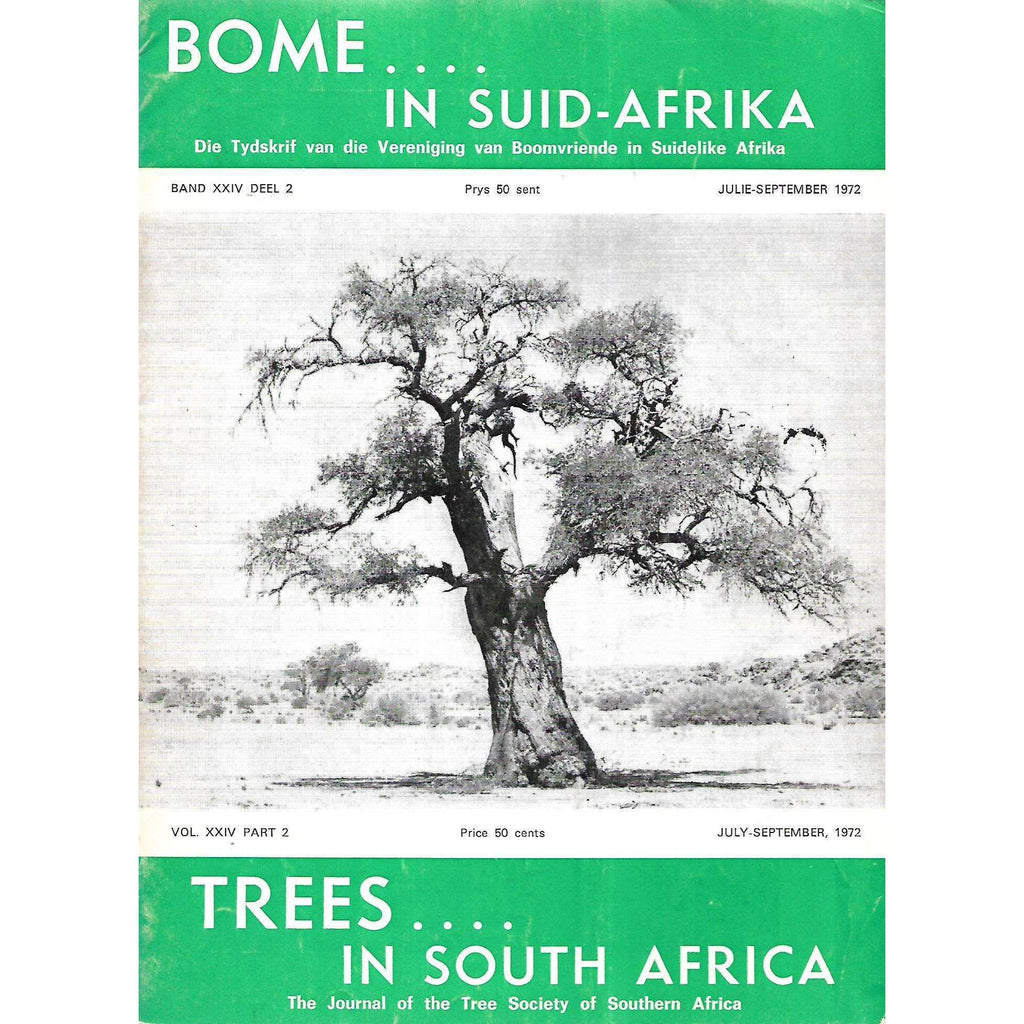 Bookdealers:Trees in South Africa (Vol. 24, Part 2, July-September 1972)