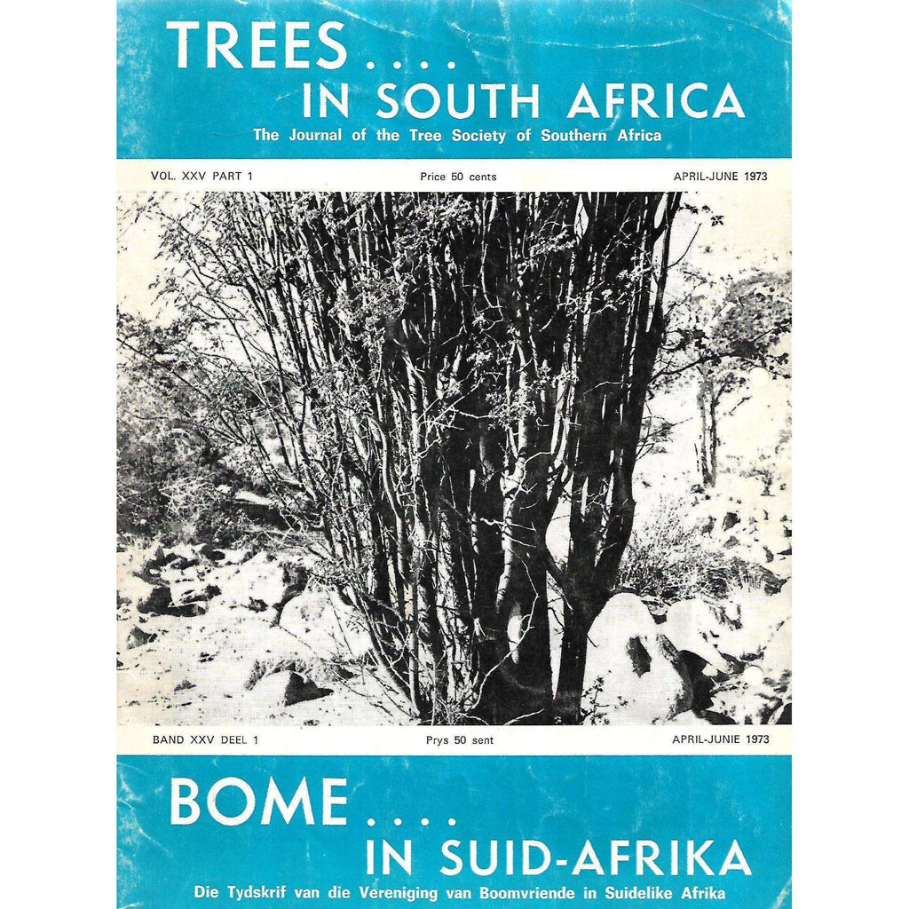 Bookdealers:Trees in South Africa (Vol. 25, Part 1, April-June 1973)