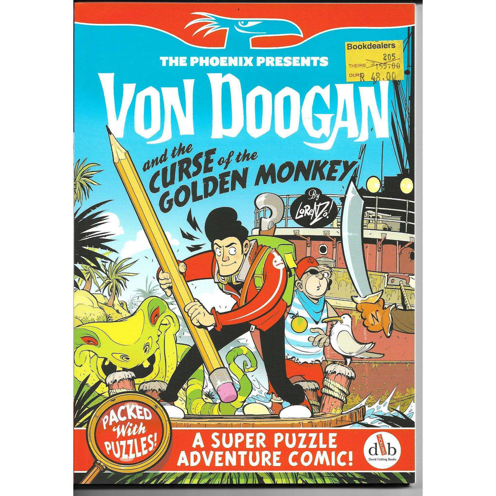 Bookdealers:Von Doogan and the Curse of the Golden Monkey  - A Super Puzzle Adventure Comic ! | Lorenzo Etherington