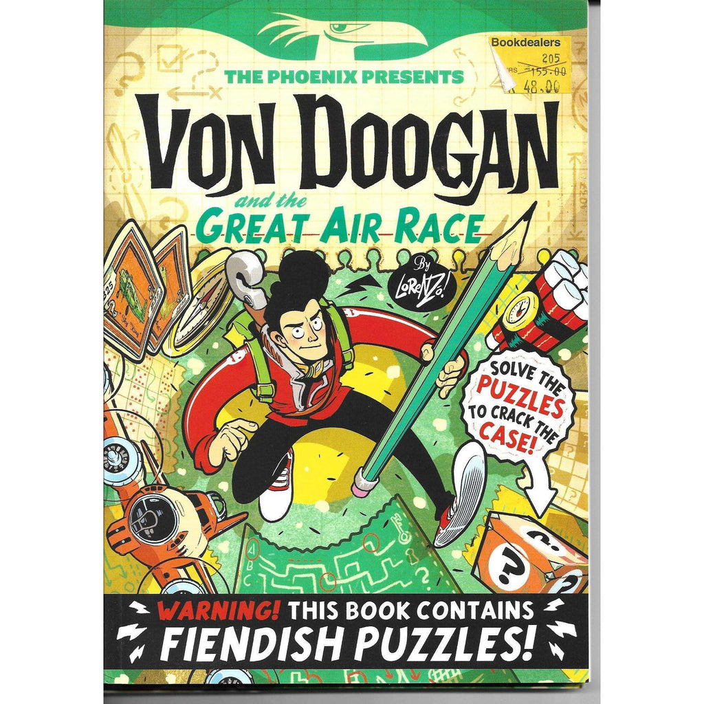 Bookdealers:Von Doogan and the Great Air Race - Warning this Book Contains Fiendish Puzzles ! | Lorenzo Etherington