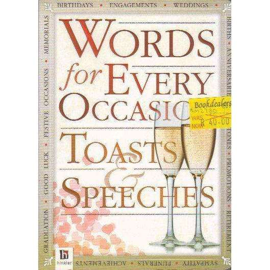 Bookdealers:Words for All Occasions: Toasts and Speeches | Hinkler Books