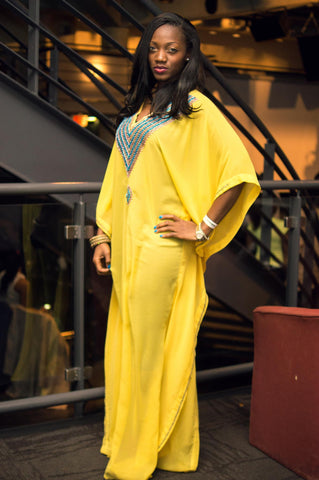 Luxury-Kaftan-Yellow-Kaftan