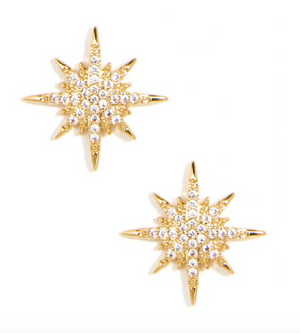 Celestial Crystal Stud Earrings
