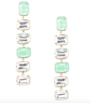 Chunky Crystal Drop Earrings