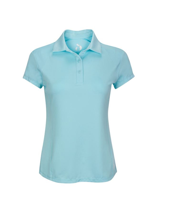 Polo Shirt w/Mesh - Tiffany Blue