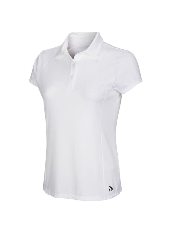 Polo Shirt w/Mesh - White