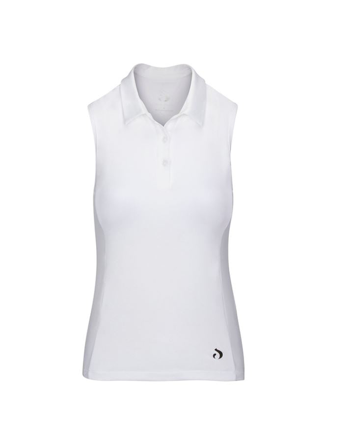Racerback Sleeveless Polo - White