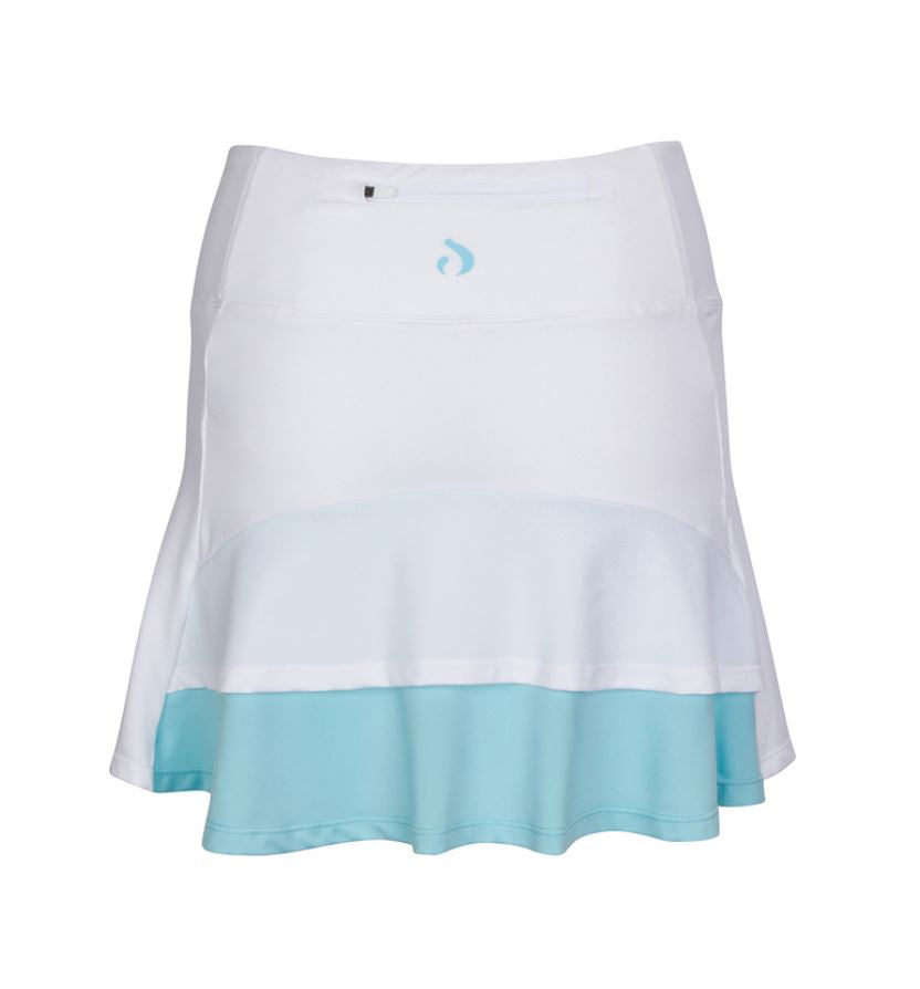Ruffle Skort - Tiffany Blue & White