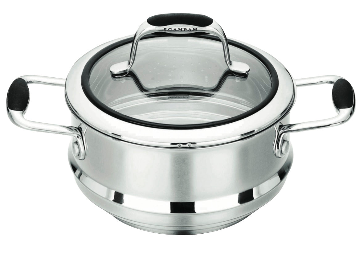 Scanpan Coppernox Multi stepped steamer with Lid.