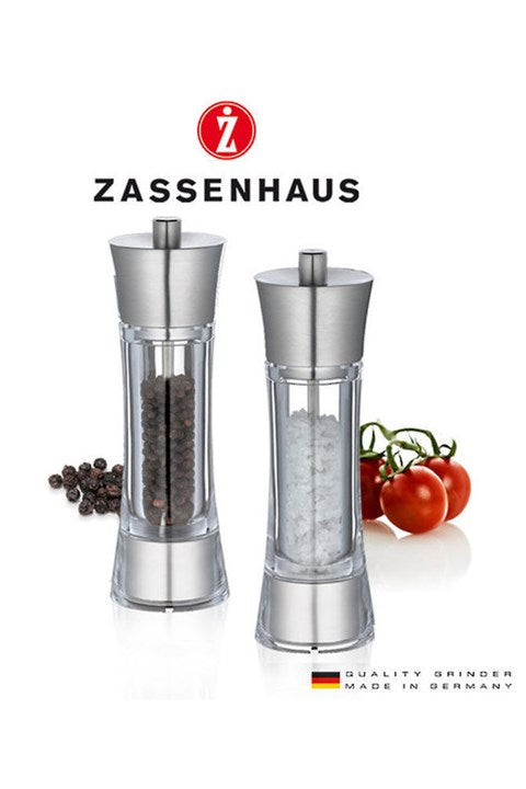 Zassenhaus Aachen Acrylic/Ssteel Salt/Pepper Mill Set 18cm