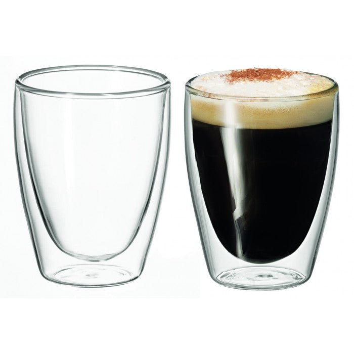 Avanti Caffe Twin Wall 250ml Glasses 2Pk