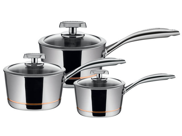 Scanpan Axis Saucepan Set 3pc