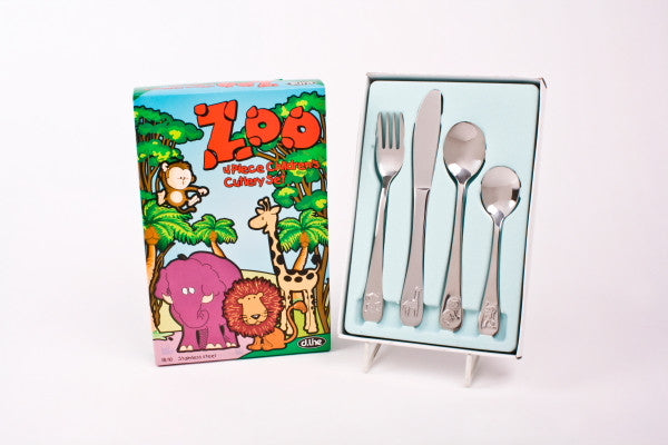 Dline Kids Cutlery Set Zoo 4pc