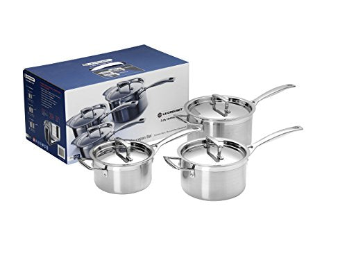 Le Creuset 3Ply Saucepan Set 16 ,18 and 20cm