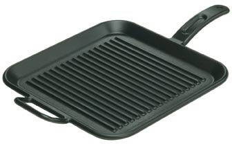 Lodge Logic Square Ribbed Grill Pan 30
