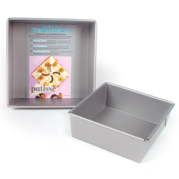 Patisse Square Flat Base Tin
