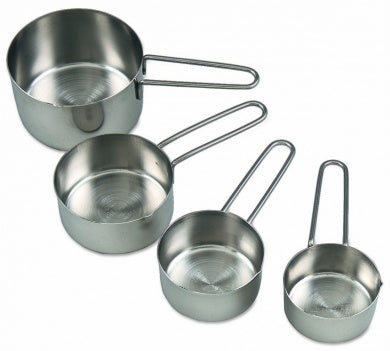 Stainless Steel Measuring Cups 4Pc