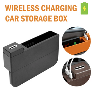 Luxurious Wireless Charging Car Storage Box