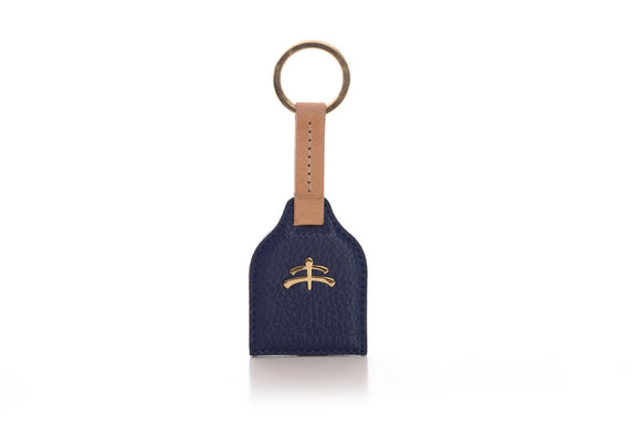 Stirrup leather Key Ring | leather | leather fashion | fashion accessories | leather accessories | key holder |  keychain | Made in Italy | craftsmanship | Makebe | blue |