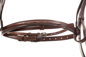 complete bridle with reins | English leather | full | brown