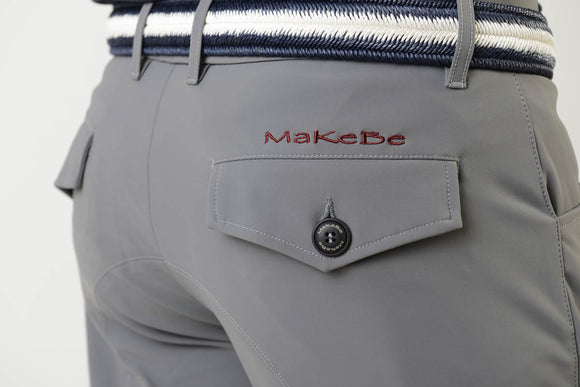 Men breeches | equestrian | man riding breeches | clothing | grip | model RALPH | Makebe | made in Italy | comfort of movement | gel grip | technical materials | grey |