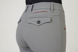Ladies breeches | lady breeches | equestrian | riding breeches | clothing | grip | model ANNA| Makebe | made in Italy | comfort of movement | gel grip | technical materials | grey |