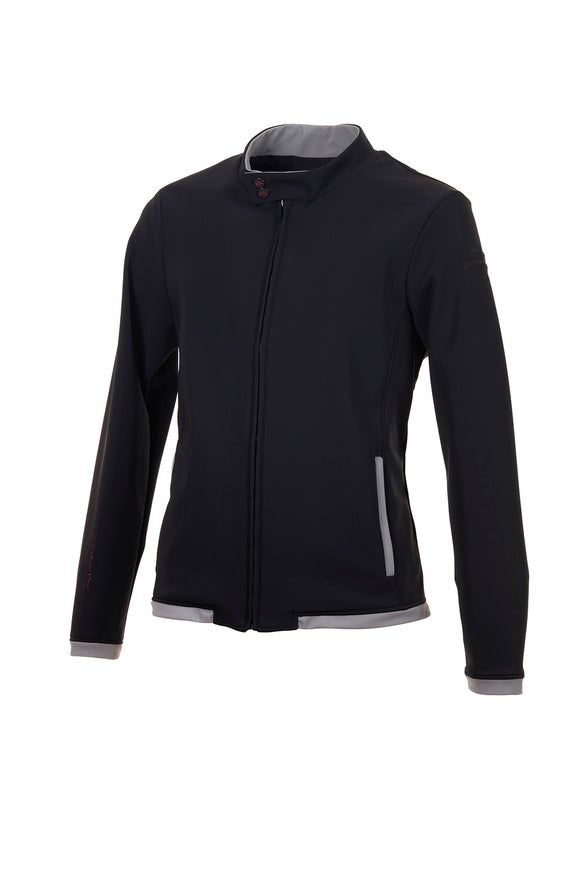 black | TOMMY | mid season | men bomber | technical fabric | man bomber | lothing | Makebe | equestrian | leisure time |