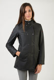 Ladies technical rain coat | model HAPPY RAIN | lady technical rain coat | riding | technical rain coat | leisure time | clothing | equestrian | jacket | lady jacket | Makebe | elegance | comfort | comfort of movement | Made in Italy | black |