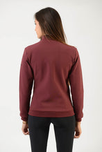 Load image into Gallery viewer, Technical Sweater | model GAIA | lady sweater | riding sweater | leisure time | sweater | clothing | equestrian | Makebe | elegance | comfort | comfort of movement | Made in Italy | riding | lady jacket | jacket | bordeaux |