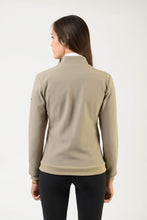 Load image into Gallery viewer, Technical Sweater | model GAIA | lady sweater | riding sweater | leisure time | sweater | clothing | equestrian | Makebe | elegance | comfort | comfort of movement | Made in Italy | riding | lady jacket | jacket | beige |