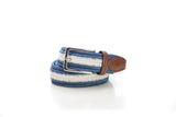 Men Elastic Linen Belt | man belt | elastic belt | clothing | fashion accessories | riding clothing | leisure time | elegance | sport | equestrian | belt | light blue |