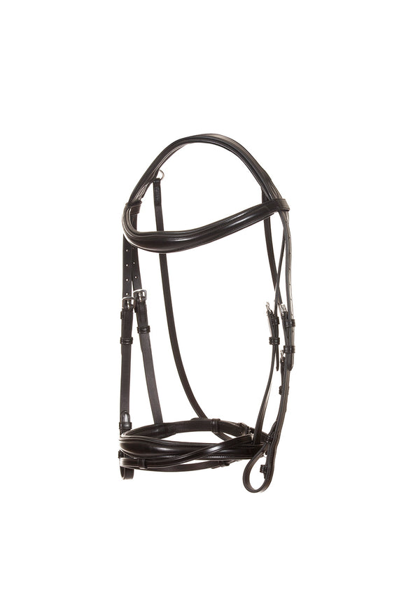 leather bridle | anatomical headpiece | convex noseband | Makebe | Stable line