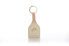 Load image into Gallery viewer, Stirrup leather Key Ring | leather | leather fashion | fashion accessories | leather accessories | key holder |  keychain | Made in Italy | craftsmanship | Makebe | white | pearl | milk |