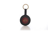 Round Key Ring | leather | leather fashion | fashion accessories | leather accessories | key holder |  keychain | Made in Italy | craftsmanship | Makebe | black | bordeaux |