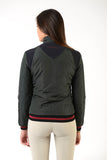 Ladies winter bomber | model JESSIE | lady winter bomber | riding winter bomber | leisure time | clothing | equestrian | jacket | lady jacket | Makebe | elegance | comfort | comfort of movement | Made in Italy | riding | green |
